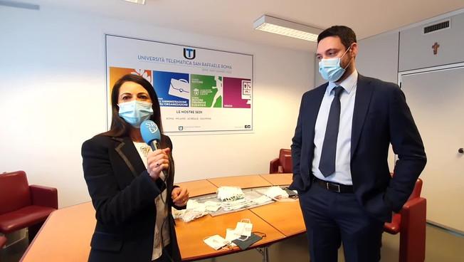 Ircss San Raffaele, consegnate le mascherine realizzate dagli studenti di moda dell'Università Telematica