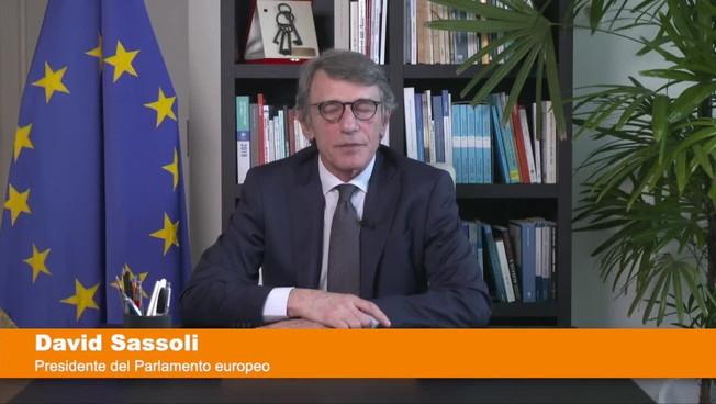 Coronavirus, Sassoli 'I Governi europei siano all'altezza della sfida'