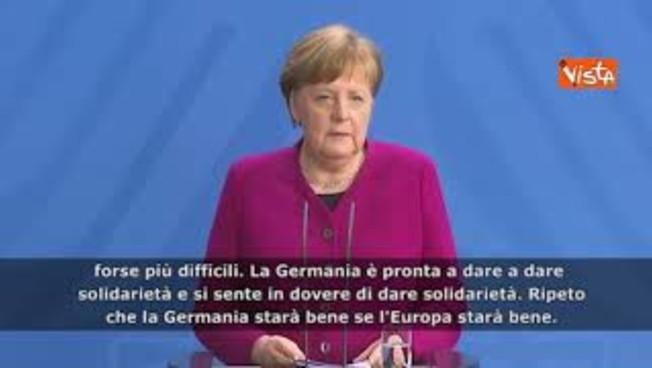 """La Merkel fa la subdola: 'D'accordo con Conte sulla solidarietà. È l'ora più difficile"""""""