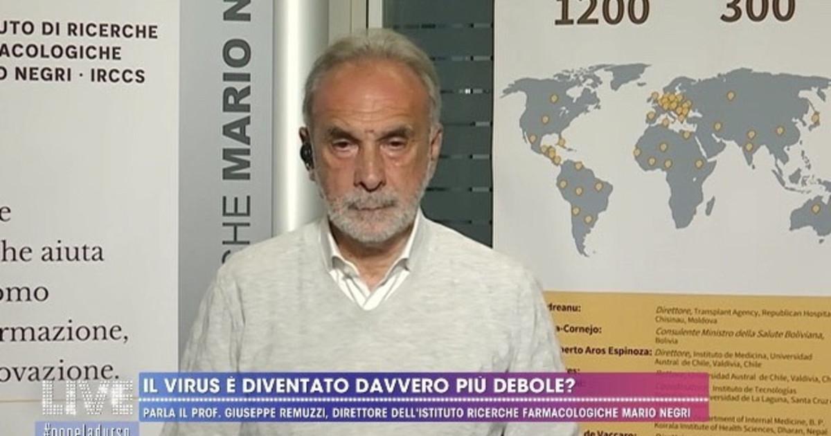 """Coronavirus, Giuseppe Remuzzi dalla D'Urso: """"Non si è indebolito ..."""