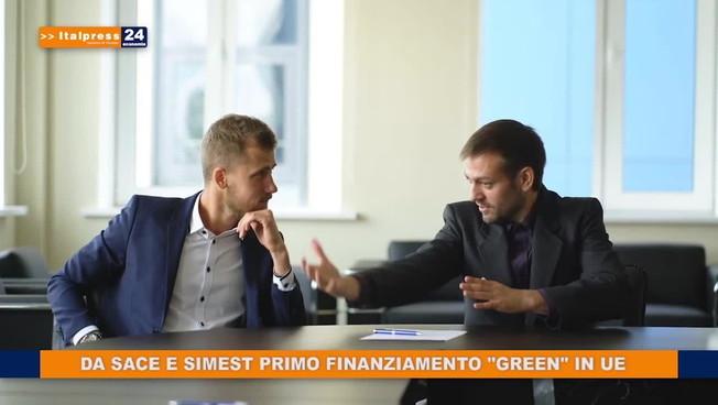 Da Sace e Simest primo finanziamento 'green' in Ue