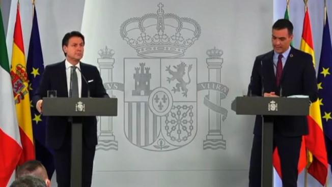 Conte e Sanchez incalzano: pacchetto aiuti Ue entro fine mese