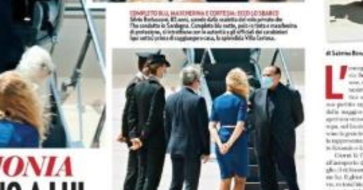 Silvio Berlusconi e Marta Fascina, l'arrivo in coppia in Costa ...