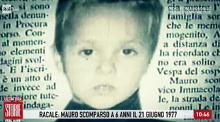 Moro was abducted and sold abroad.  The baby went missing in 1977: he is alive today.  Yellow from Raquel, a stunning twist