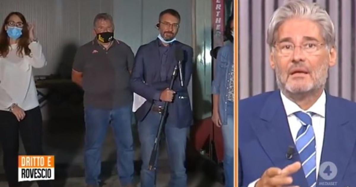 Presidente, perché non rispondi? Paolo Del Debbio, prova in diretta a Tridico: un bagno di sangue | video