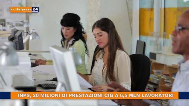 Inps, 20 mln di prestazioni cig