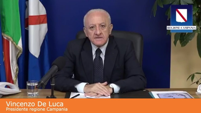 Coronavirus, De Luca 'Subito lockdown totale in tutta Italia'