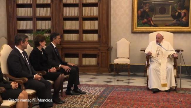 Il Papa riceve il premier spagnolo Pedro Sanchez