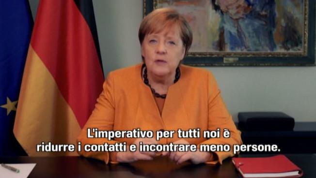 Covid-19, Angela Merkel chiama i tedeschi a maggiori sacrifici