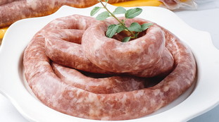 El peligro de la salmonella en las salchichas.  Elija una opción para esta marca: la carne que no debe comer