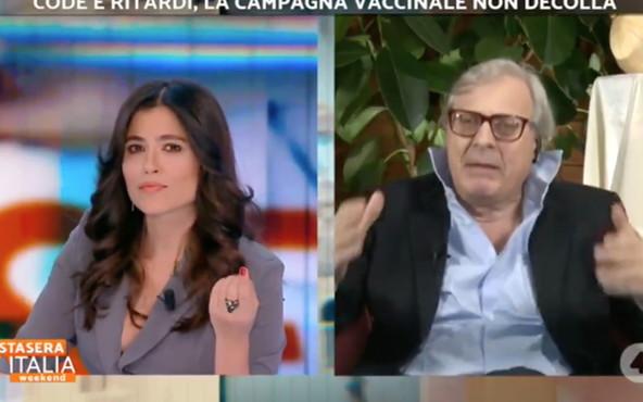 """Stasera Italia, Vittorio Sgarbi scatenato contro il coprifuoco: """"Io vado dove ca*** voglio"""""""