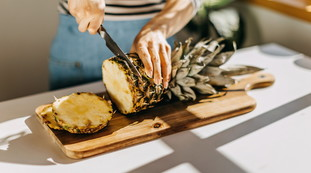 Pineapple, get rid of the peel?  Never Do It Again: A luxury, a property that hardly anyone knows about
