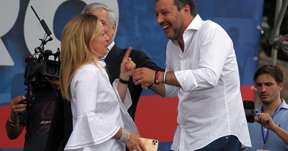 Milagre em Roma, graças à tribuna: paz entre Salvini e Meloni