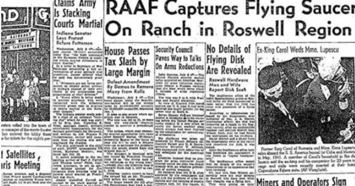 UFO, on the day Roswell unleashed conspiracy theorists: try to go to the page of aliens, and the disturbing discovery