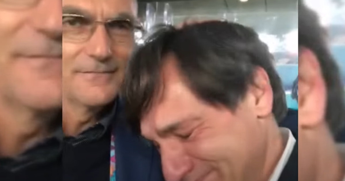 How we said goodbye.  Caressa cries with Bergomi: is it goodbye?  The video that triggers the rumors |  Look