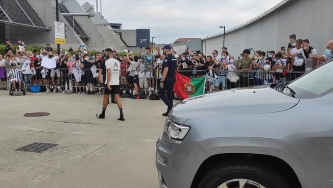 Tifosi in delirio per Cristiano Ronaldo