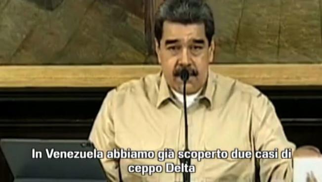 Maduro annuncia la scoperta della variante Delta in Venezuela