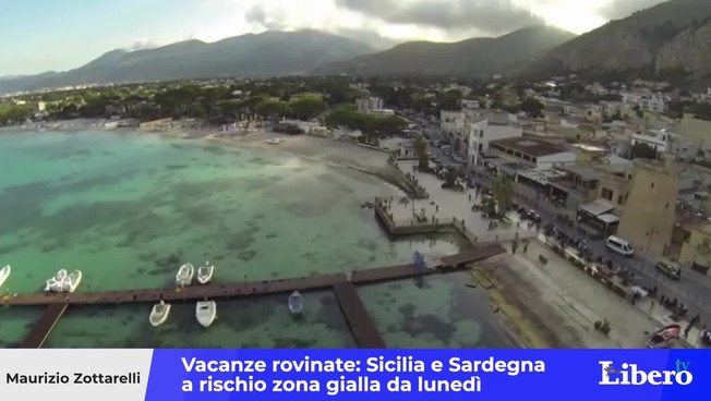 Delta variation, ruined holidays: Sicily and Sardinia Yellow Zone already on Monday?  Here's what restrictions are coming back