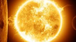 A powerful explosion on the sun causes a