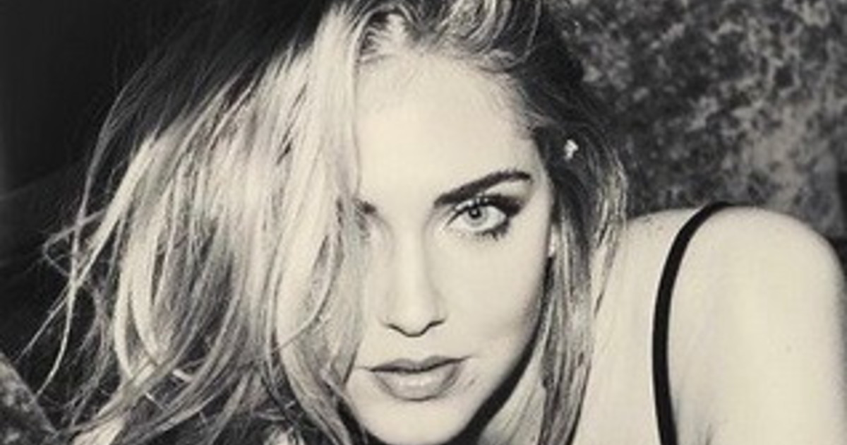 Another extreme image influenced by censorship in black underwear: Chiara Ferragni shows herself like this |  research