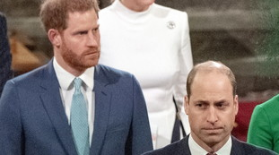 Harry was about to cry.  Overshadowed by William and humiliated in the church: Black on white confrontation