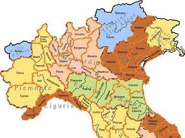 Piemonte E Lombardia Cartina.Lombardia E Veneto Oggi Il Referendum E Domani La Secessione In Piemonte Libero Quotidiano