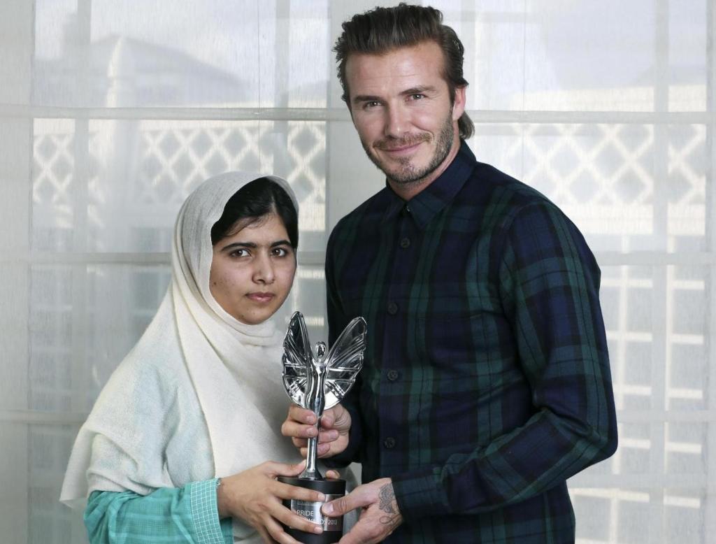 Malala, i talebani volevano la sua morte Beckham come ricompensa per il suo coraggio
